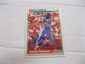 Details About Brian Mcrae Autographed Score 91 Baseball Card