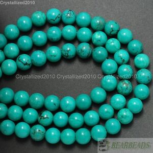 Natural-Turquoise-Gemstone-Round-Spacer-Beads-2mm-3mm-4mm-6mm-8mm-10mm-12mm-16-034