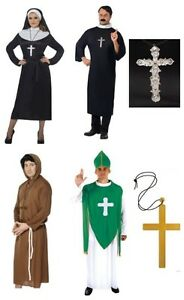 Image is loading Fancy-Dress-Sister-Mary-Nun-Priest-Vicar-Monk-  sc 1 st  eBay & Fancy Dress Sister Mary Nun Priest Vicar Monk u0026 Irish Costumes ...