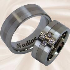 Trauringe Hochzeitsringe Partnerringe Eheringe Edelstahl Titan mit Lasergravur