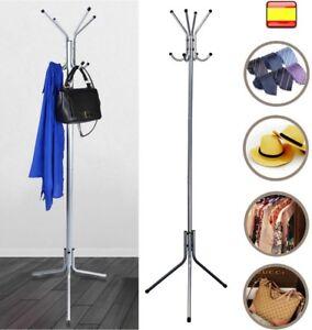 Perchero metalico de Pie 175x48cm Colgar ropa Paraguas sombreros abrigo colgador