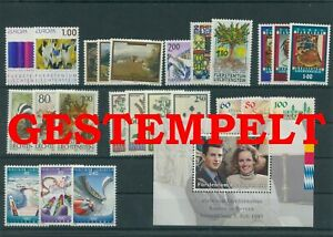 Liechtenstein-Vintage-Yearset-1993-Timbres-Used-Complet-Plus-Sh-Boutique
