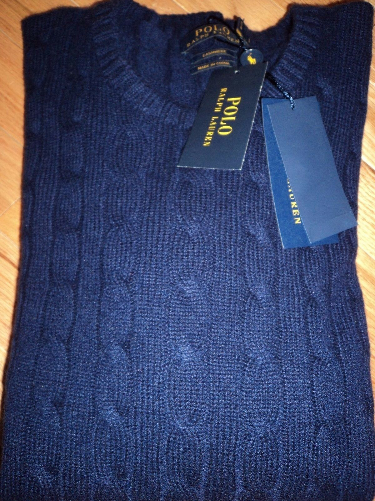 +++nwt 398 Polo Ralph Lauren 100% Cashmere Sweater sz M+++