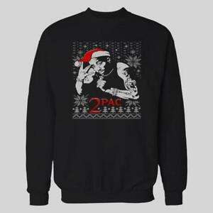 Tupac 2pac Hiphop Yo Mtv Ugly Christmas Xmas Sweater Custom Oldskool