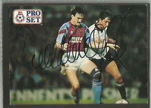 1991-Pro-Set-Tarjeta-Derek-Mountfield-Aston-Villa-originalmente-firmado