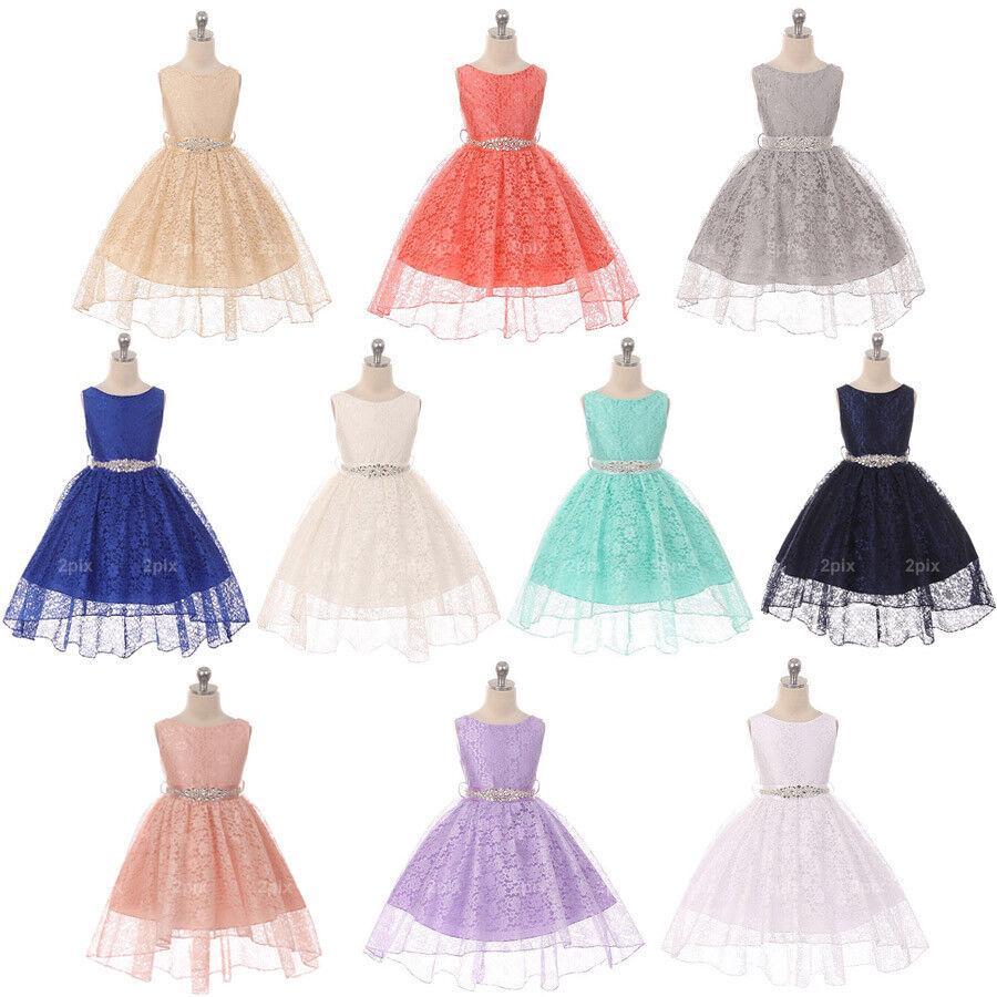 Flower Girls Dresses Princess Pageant Dance Wedding Party Birthday Recital Prom