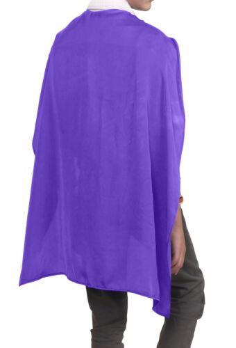 Enfants garçons filles super héros Deluxe capes en satin costume robe fantaisie livre semaine