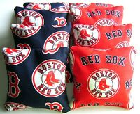 Boston Red Sox Cornhole Bean Bags Set Of 8 Top Quality Regulation Toss Game