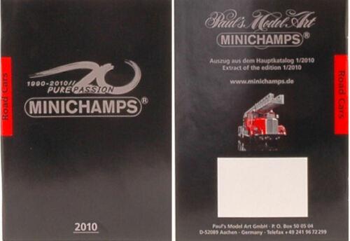 Catalogo minichamps 2010 auto stradali 1:43 formato a6 pag.67 cataloghi scale