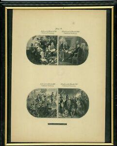 1870S $10 $20 $50 $100 NAT'L CURRENCY VIGNETTES ABNC HEATH COUNTERFEIT DETECTOR