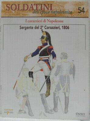 """Soldatini Napoleonici In Piombo """"sergente Del 2° Corazzieri, 1806"""" Solo Fascicol Ottima Qualità"""
