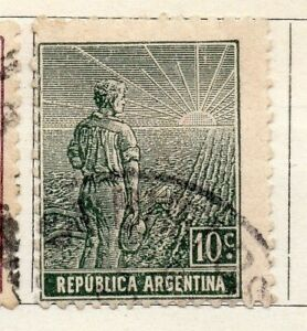 Stamps 095933 Choice Materials Qualified Argentine Republic 1911 Early Issue Fine Used 10c