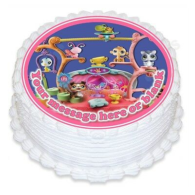 Prime Littlest Pet Shop Personalised Round Cake Topper Icing Funny Birthday Cards Online Elaedamsfinfo