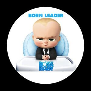 Details About The Boss Baby Birthday Edible Icing Round Cake Topper Decoration Images