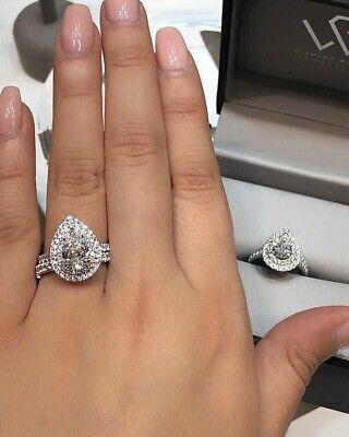 1.75 ct Round Cut Diamond 14k White Gold Finish Eternity Wedding Band Ring SJ