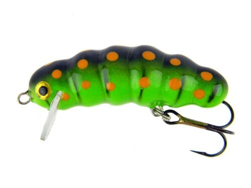 leurres de surface Imitations d/'insecte Microbait Maggot 33mm 2g floating
