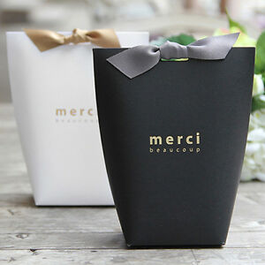 5 100x Merci Beaucoup Elegant Party Paper Wedding Favour Gift Sweets