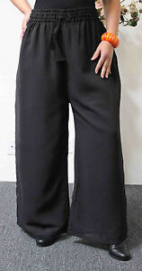 126a96677d5 Image is loading Pegasus-Chiffon-Palazzo-Pants-Plus-Size