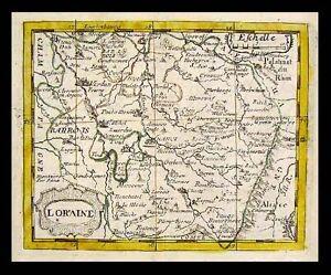 Map Of France Nancy.Details About 1682 Du Val Map Loraine Lorraine France Nancy Metz