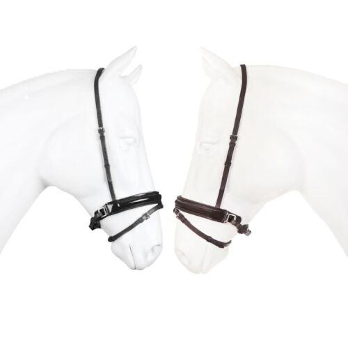 Horka Suédois des brevets Muserolle-Cuir cob poney équitation Bride Equiptment