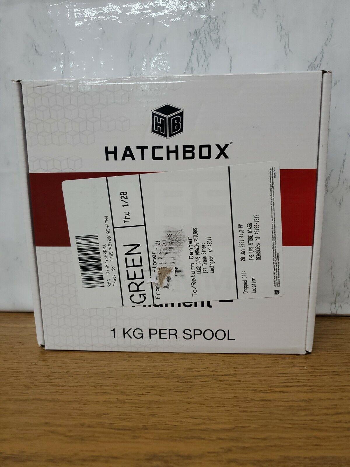 C4 HATCHBOX Abs 1.75 mm 3D Printer Filament in White, 1kg Spool