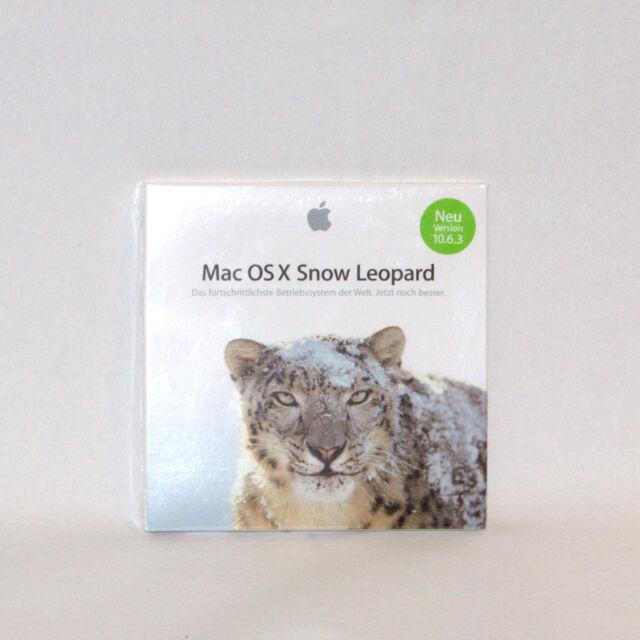 Apple Mac OS X 10.6.3 Snow Leopard MC573D/A Vollversion Intel Betriebssystem OVP