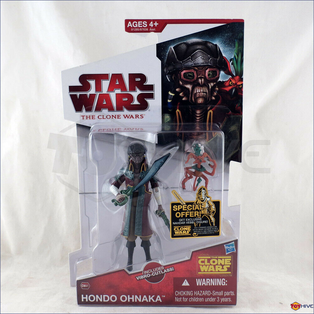 Star Wars Clone Wars 2009 Hondo Ohnaka vibro-cutlass CW41  animated action figure  promotions passionnantes