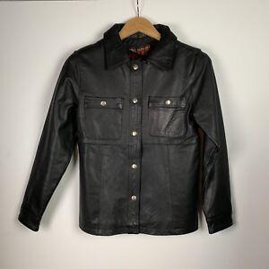 femmes cuir en noire de Veste Leathers marque épais Hot pour 4qTPndXw