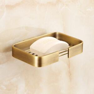 Bathroom-Bath-Hand-Soap-Dish-Holder-Solid-Brass-Basket-Hanger-Antique-Wall-Mount