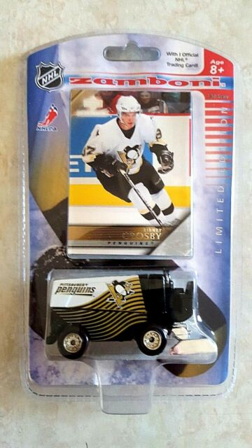 SIDNEY CROSBY Rookie Card Upper Deck Pittsburgh Penguins Diecast Zamboni Sealed