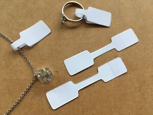 Jewellery Labels Price Tags Self Adhesive Rectangle White 25, 50,100