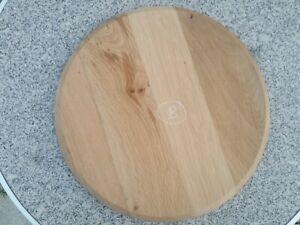 Plateau rond en vieux chêne assise tabouret dessus table Diamètre 34 cm B