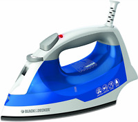 Black & Decker Ir03v Easy Steam Iron, White/blue, New, Free Shipping.