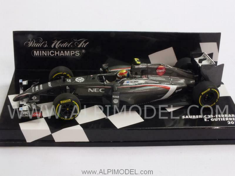 Sauber F1 Ferrari C33 Esteban Gutierrez 2014 resin 1 43 MINICHAMPS 417140021