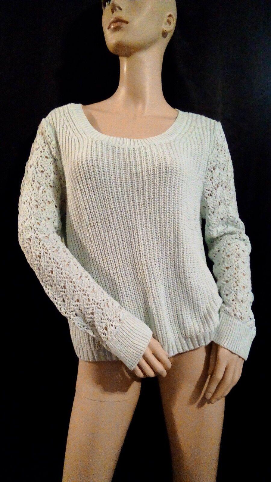 Lauren Conrad Women's Light Green Morning Mist Long Sleeve Sweater Size L NWT