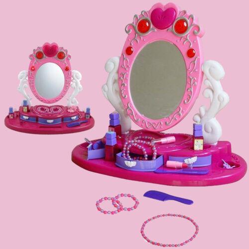 Princess Glamour Mirror Dressing Vanity Table Beauty Girl Play Set Light /& Music