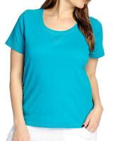 - Oso Casuals® Knit Short Sleeved Scoop Neck Tee - Sz. M