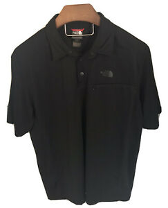 North-Face-Black-Performance-Polo-Short-Sleeve-Shirt-XL-Excellent-Condition