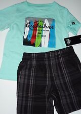 NWT Toddler QUIKSILVER Surf Board Riders Shirt & Matching Shorts Set Size 18M