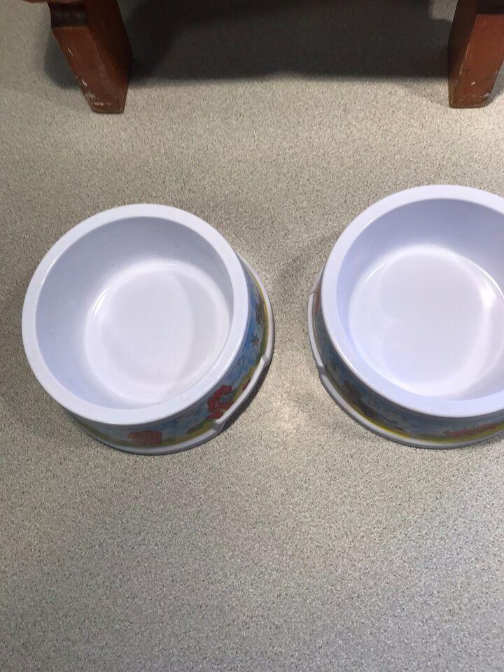 Hård plast spise og drikke skål til kat eller lill