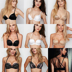 8094a4f8a9 Victoria s Secret Bombshell Add-2-Cups Push-up Multi-Way Bra 34A 34B ...