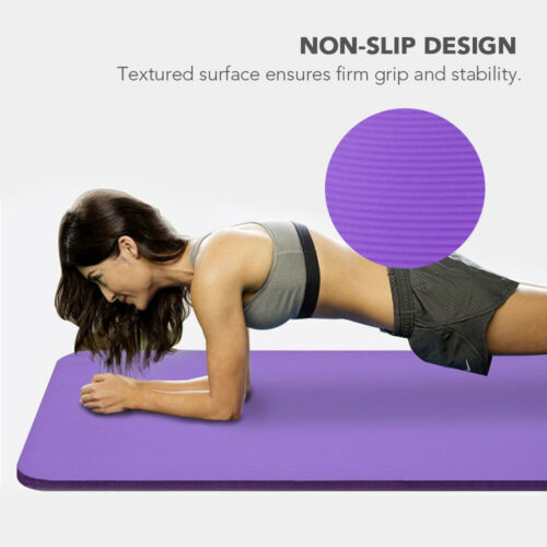 Sporting Goods 183*61*1cm 10mm Thick Yoga Mat Non-Slip Exercise Mat Pad  with Strap Bag WB Fitness, Running & Yoga