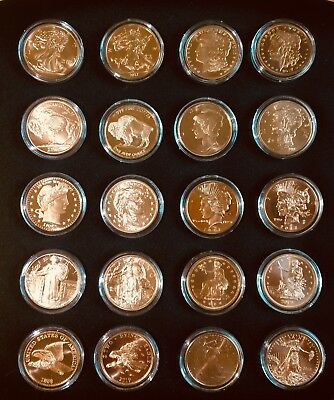 AFTER ZOMBIEFIED   20 ONE OUNCE COPPER ROUND COIN BULLION ZOMBUCKS BEFORE