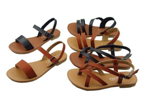 NEW YOUTH KIDS GIRLS Gladiator Thong Flops T Strap Strappy Flip Flops Sandals