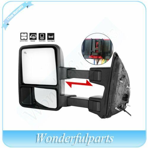 Driver side Power Heated SMOKE Turn Signal Mirror For 08-16 F250 F350 SuperDuty