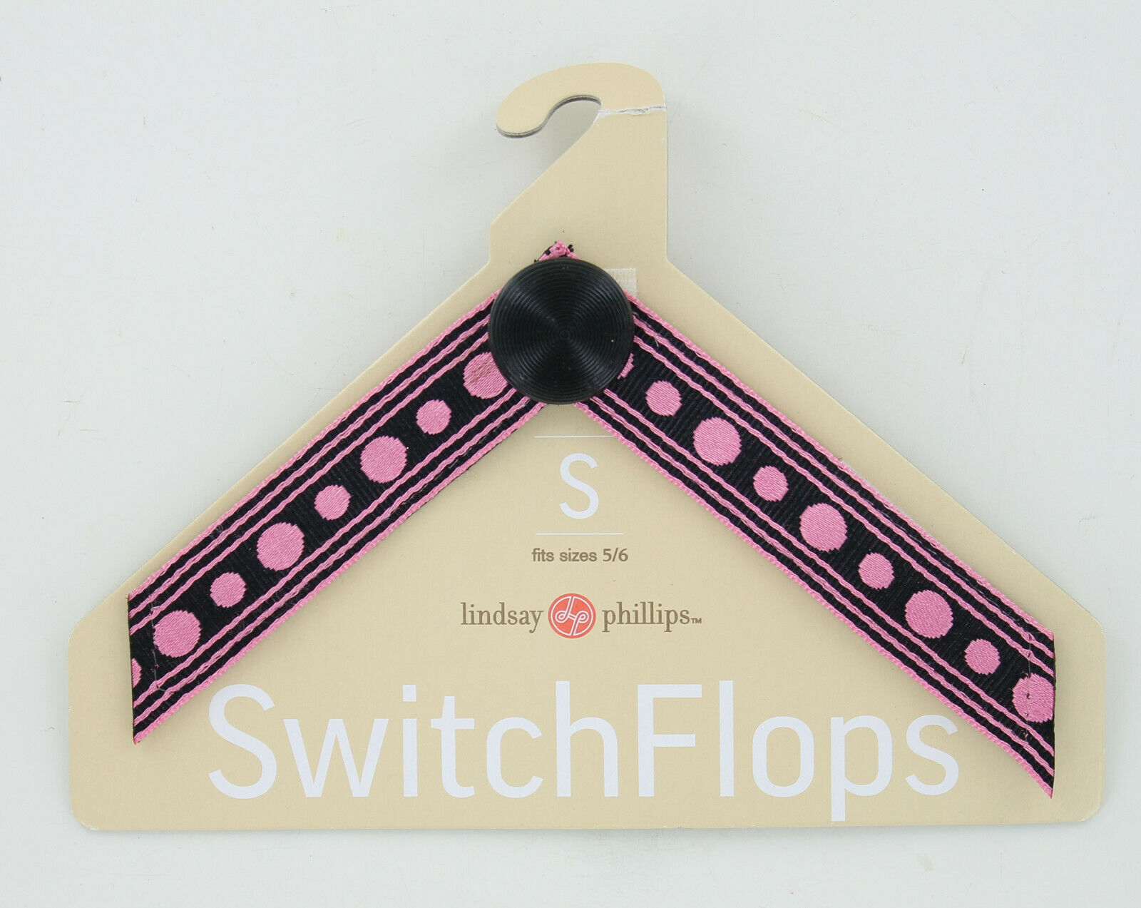 Lindsay Phillips SwitchFlops Straps - Kim - Pink Dots - Small 5/6