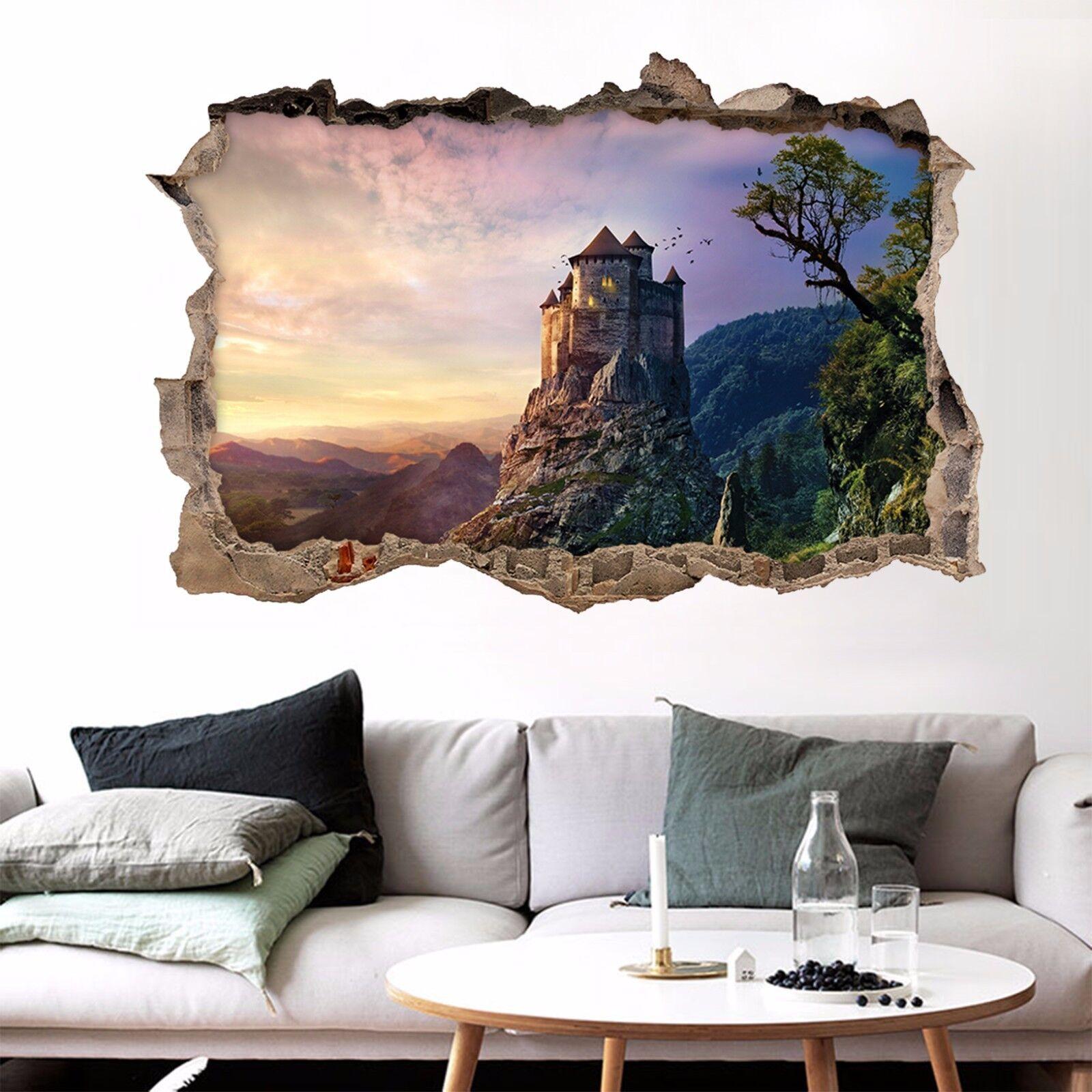 3D Castello Di Picco 26 Parete Murales Adesivi Decal Sfondamento AJ WALLPAPER IT