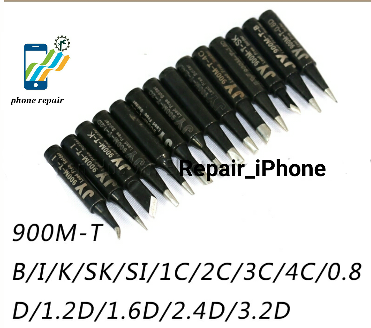 10pcs//set Solder Iron Tip 900M-T-K For Hakko 936 fx888//888D SAIKE 909D//852 sale
