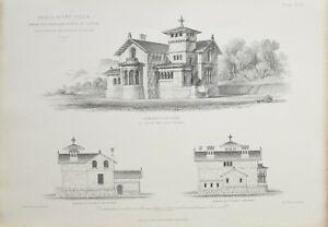 1868-Architektonisch-Aufdruck-Craig-Ailey-Villa-Firth-von-Clyde-Thomson