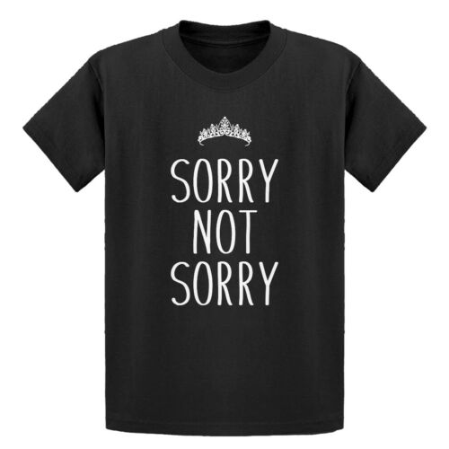Youth Sorry Not Sorry Short Sleeve Kids T-shirt #3458